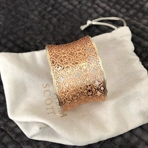 Kendra Scott Candice Cuff Bracelet in Rose Gold